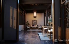 中式设计别墅私人会所装修案例—河北承德