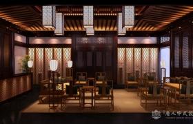 中式设计茶楼装修方案凸显中国传统文化-郑州